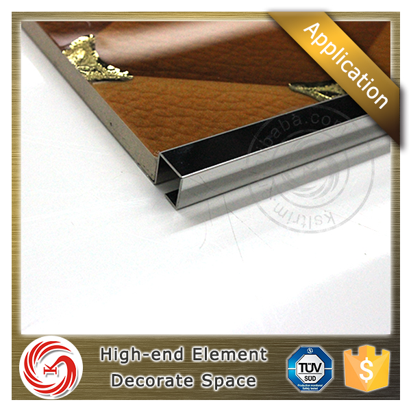 Industrial low price metal square /U / L shape ceramic tile edge trim