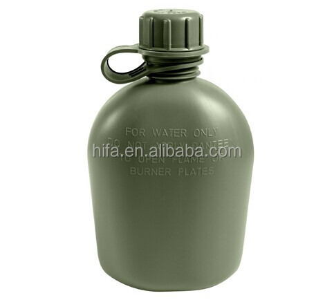 Army camping plastic water drinking bottle military water kettle water canteen set