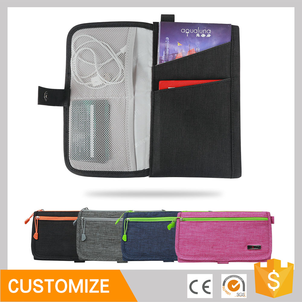 Colorful BUBM usb cable electronics travel organizer case bag