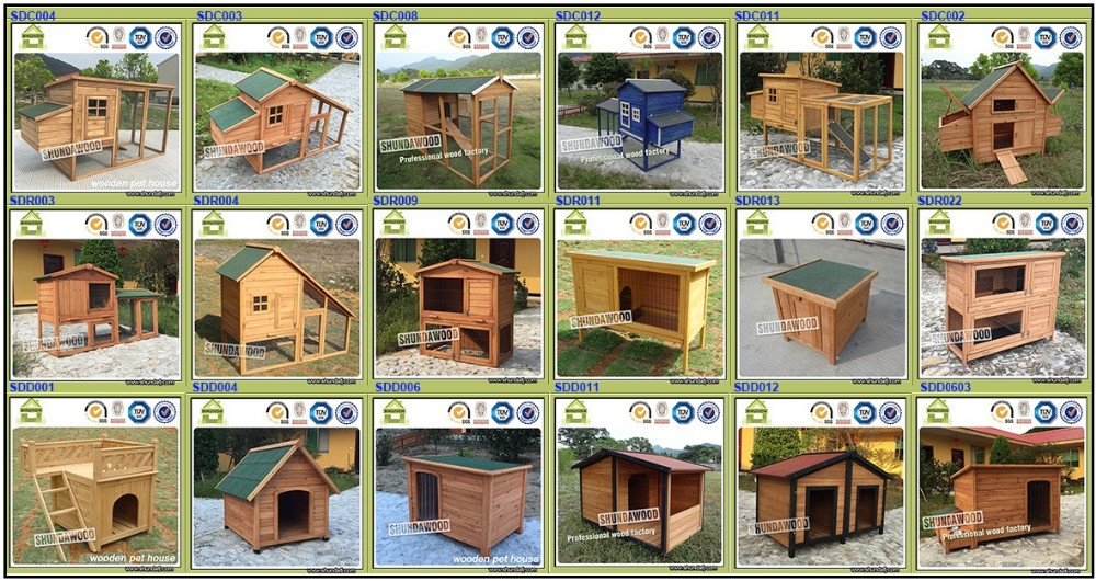 SDD001 Wholesale Wooden Cat House for Dog Supplies