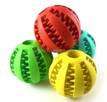TOY IQ BALL FOR DOGS & CATS [Dental Treat][Bite Resistant] Durable Non Toxic- BPA FREE-Strong Tooth Cleaning Dog Toy Balls