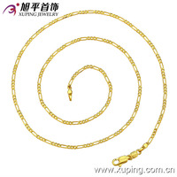 42293-xuping latest model pretty 24k gold necklace women wholesale price of imitation jewelry