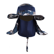 High Quality Custom Design Camo Bucket Hat With Flap Neck Cover