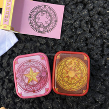 yellow star contact lens case pink colorful contact lenses box