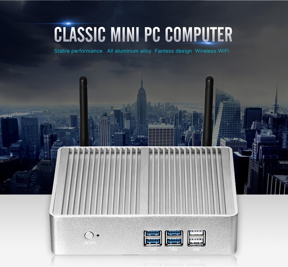Fanless Mini PCITX 5th Generation CPU dual core mini pc i3 5005U 2.0GHZ 300M WIFI