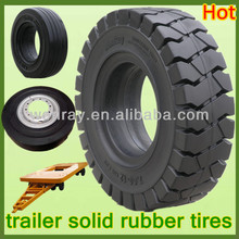 hot sale heavy equipment tires 10.00-20 for sale, solid rubber tires for trailers