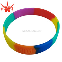 Wholesale cheap custom colorful silicone rubber bracelet
