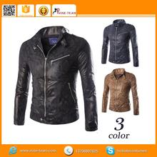 half sleeve leather jacket, metal zipper leather jacket decorative, dark brown sheep leather jacket