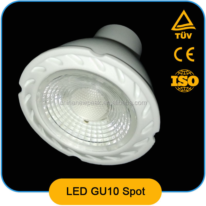 new competitive COB led spot light gu10 5W,7W,CE ROHS,ERP,AL+PBT,80LM/W,led spot lighting,led spot
