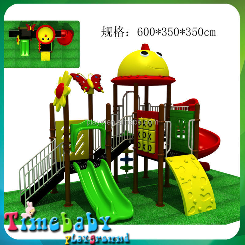 Children outdoor playground big slides for sale with Combined Slide (Forest)