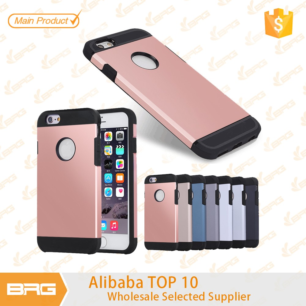 Bulk Factory price mobile phone cases ,PC+TPU case for iphone 6 6s
