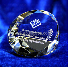 crystal blank glass paperweight for souvenir gift,wedding favor gifts