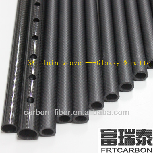 matte /glossy carbon fiber extension /telescopic composite tubes pipe tubing poles sticks booms
