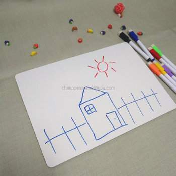 Frameless kids mini whiteboard set with and pen eraser