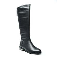 Most popular wholesale women shoes ,falt long lamb nappa riding boots for ladies