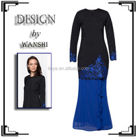 Hot sale latest muslim model baju kurung modern 2016