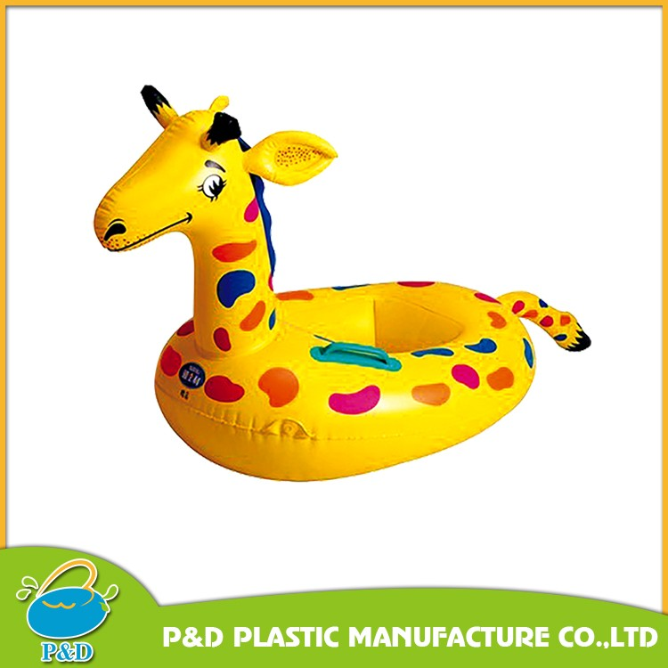 baby using inflatable swim boat