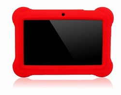 7 android kids' tablet with silicone case