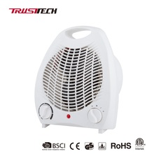 Handy Portable Indoor Electric Fan Heaters with Tip-over Switch