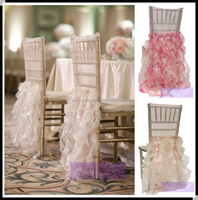 Ruffled wedding chair covers,chiavari chair covers