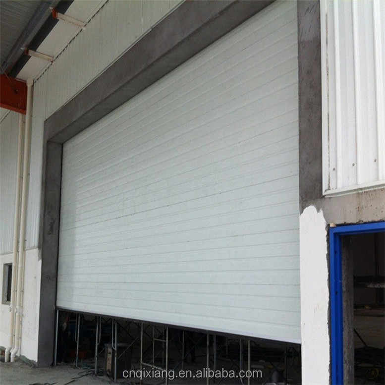 Customized sectional folding insulated glass garage door with motor