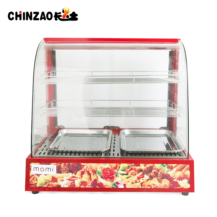 Stainless Steel Glass Food Warmer Display Showcase for restaurant