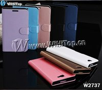 For Samsung Galaxy Note 2 II N7100 brushed wallet leather Case with stand Cover.