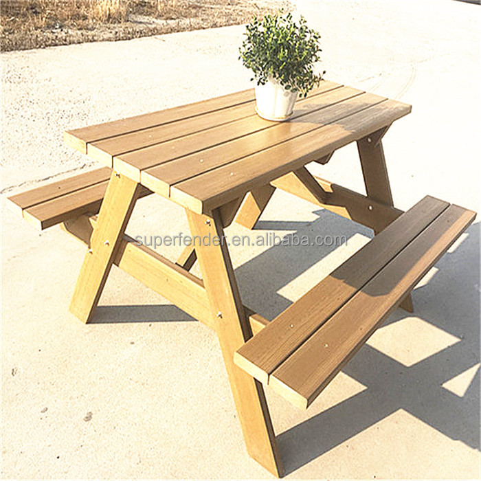Professional manufacture of sunlight and water resistant vinyl outdoor picnic tables
