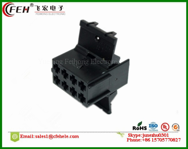 8 pin tyco/amp 881647-1 black timer connector for automobile