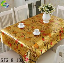 high quality embossed gold and silver tablecloth pvc plastic roll