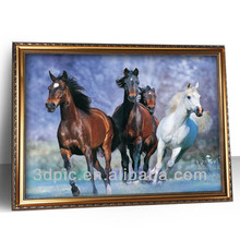China wholesale home decor 3d picture frame of horse