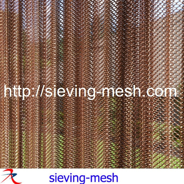 Lovely Aluminum Wire Mesh / Fireplace Wire Mesh Curtain / Metal Mesh Curtain