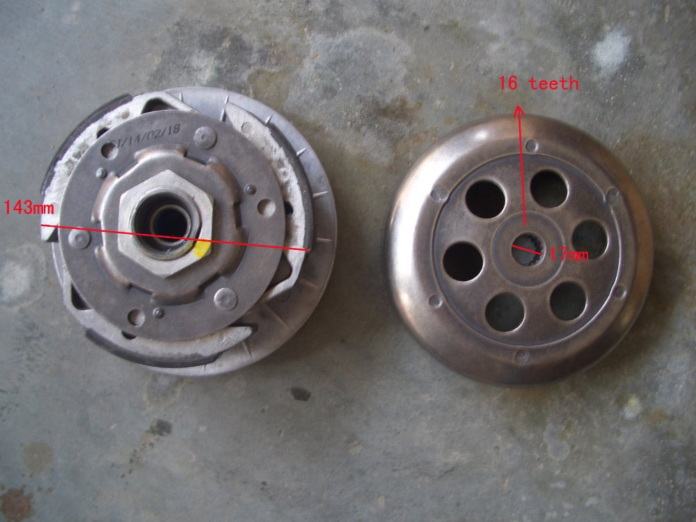 Driven Pulley for 300cc Go Kart Buyang Linhai 300cc ATV 300cc Clutch