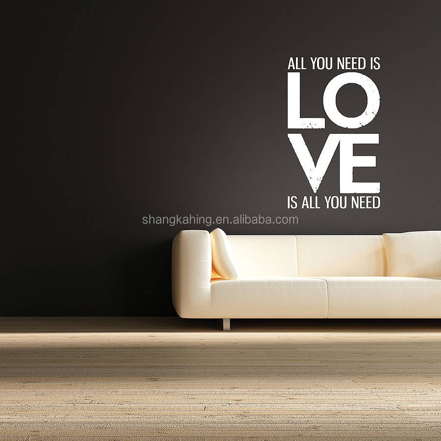 removable eco-friendly vinyl wall art lettering Inspirational quotes and phrases art from professional manufacture