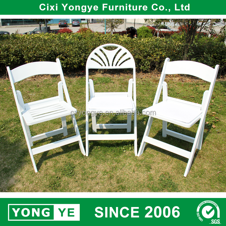 Wholesale White Plastic Wedding Party Outdoor Resin Folding Chair
