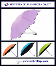 custom shape folding rain umbrella science promotional item