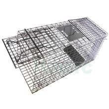 Haierc metal wire mesh hunting traps bobcat trapping live traps for cats HC2615