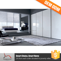 Bedroom Furniture Set Portable Folding Sliding Mirror Wardrobe Doors