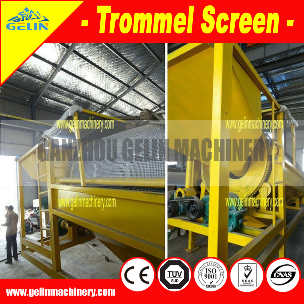 Alluvial mobile type gold trommel for zimbabwe gold buyer