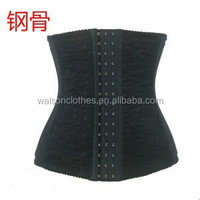 Cheap Sexy lace waist training steel bone cincher corset body shaper for women steel boned short corset