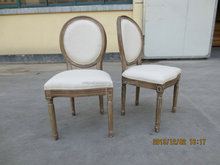 Wholesale Luxury White Wooden Design Louis XV Chair Used Dining Chair