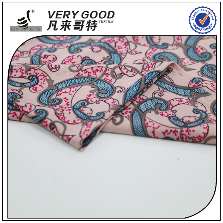 Latest products FDY printing italian knit fabrics
