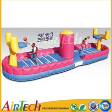 Inflatable basketball dunk for competition games