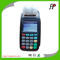 Wireless handheld GPRS financial payment pos terminal with printer