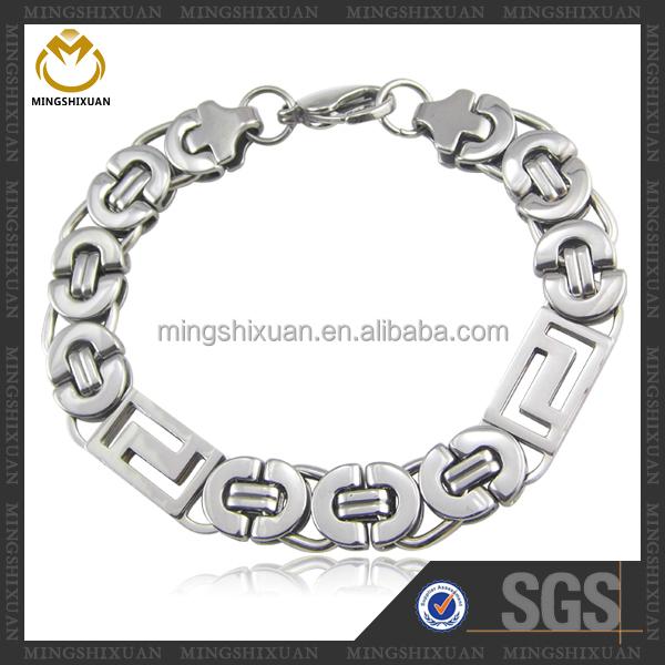 Trendy design stainless steel jewelry, best selling 925 sterling silver bracelet