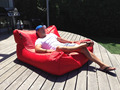 48inch x 44inch x 24inch BIG SIZE Red bean bag chair - outdoor and indoor both use sofa cushion, Sunshine sitsack
