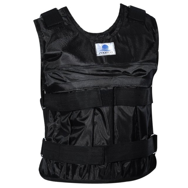 Zooboo Adjustable Weighted Vest Fabric Weight Jacket  for Exercise Fitness Boxing Training