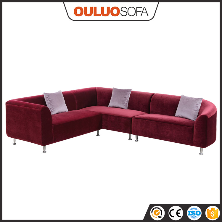 Elegant Shape Italian Fabric Comfotable Home Furniture Round Sofa