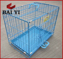 Aluminum Folding Dog Cage With Wheels