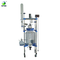 50L 100L 200L Chemical reactors jacketed glass reactors with column for Crystallization